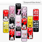 Disney Cute Cartoon HD Painted Smooth 3D Glass Case For iPhone X 8 7 6 6s Plus
