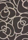 Gray Transitional Synthetics Leaves Petals Circles Area Rug Floral 101-40371