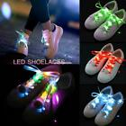 LED Shoe Laces Flash Light Up Colors Glow Strap Flashing Shoelaces Party Cool E