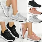 New Womens Trainers Gym Knitted Upper Lace Up Sport Fitness Boost Size UK