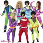 Mens Womens 80's Height of Fashion Shell Suit Costume Tracksuit Fancy Dress Wig