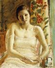 """Frederick Carl Frieseke """"Seated Figure"""" negligee melancholy day dreaming CANVAS"""