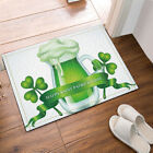 St. Patrick Day Decor Flannel Bathroom Door Mat With Non Slip Backing 16x24inch