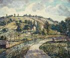 "ERNEST LAWSON ""Hillside Tennessee"" HOME shack road sky trees CANVAS/PAPER giclee"