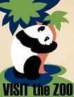 7728.Vintage design POSTER.Home room wall decor.Visit the Zoo.Giant Panda