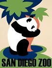 7729.Vintage design POSTER.Home room wall decor.Visit an Diego Zoo.Giant Panda