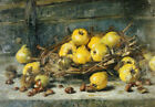 "EUGEEN JOORS ""Basket Of Pears With Chestnuts"" ON CANVAS OR PAPER various SIZES"