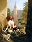"HENRIETTE RONNER ""A Mother and Her Litter"" dog puppies various SIZES, BRAND NEW"