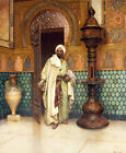 "RUDOLF ERNST ""An Arab In A Palace"" CANVAS/PAPER ! choose SIZE, from 55cm up, NEW"