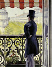 GUSTAVE CAILLEBOTTE Man on A Balcony Paris ON CANVAS or PAPER various SIZES