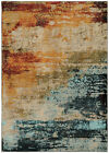 Blue Contemporary Synthetics Worn Distressed Faded Area Rug Abstract 6365A
