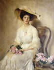 JOHN HENRY FREDERICK BACON Portrait Lady PRINT New choose SIZE, from 55cm up