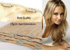 8PCS Clip in Remy Hair Extensions 100% Real Human Hair Extension Double Weft