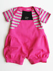 Kidcuteture Baby Girls Pink/Gray Infant Girls Cotton One-Piece Romper NWT