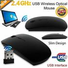 LOT 2.4G Slim USB Mini Wireless Optical Mouse Mice For Laptop PC Mac Macbook SK