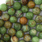"Natural Green Opal Round Beads Gemstone 15"" Strand 4mm 6mm 8mm 10mm 12mm"