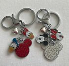 mickey minnie and daisy - Mickey and Minnie Mouse Donald and Daisy Charm Decorated Keychain