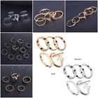 Fashion Simple Lady Ring Stacking Adjustable Ring Alloy Golden White Rings Gift