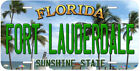 Fort Lauderdale Florida Aluminum Novelty Car Auto License Plate