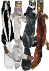 """XL 28"""" STUFFING FREE Skunk Rabbit Raccoon or Coyote Long Dog Toy w/2 Squeakers"""
