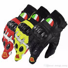 Moto Gp Valentino Rossi VR46 AGV Motorcycle Leather Gloves Carbon Protection