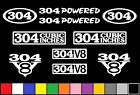 304 CI V8 POWERED 10 DECAL SET IH ENGINE STICKERS EMBLEMS FENDER BADGE DECALS