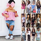 Baby - 2pcs Kids Baby Girls Outfits Casual T-shirt Tops Long Pants Leggings Clothes Set