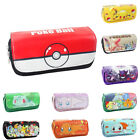 1pc Poke man Poke Ball Bag Wallet Cartoon High-capacity Double Zipper Purse New