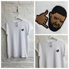 actual fact drake hotline bling embroidered white tee t shirt