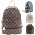 New Checkered Oilcloth Women's College School Backpack Rucksack