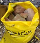 VERY STRONG HEAVY DUTY RUBBLE YELLOW PRINTED BAGS/SACKS BUILDERS 600 Guage