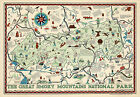 Early Map Great Smoky Mountains National Park North Carolina Tennessee Poster