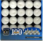 Tea Light Candles - Bulk Pack - White Unscented, 4 hours burn time