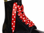 Coloured Ribbon Laces Bootlaces fits 3 6 8 10 Eye DM Boots Shoes Logo Aglets