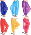 WOMEN GIRLS BELLY DANCE TROUSER SEQUINS BLOOMERS HAREM PANTS TRIAL COSTUME