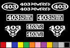403 CI V8 POWERED 10 DECAL SET ENGINE STICKERS EMBLEMS OLDS 6.6 VINYL DECALS