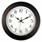 Large Indoor Outdoor Decorative Modern Wall Clock with Quiet Movement Easy Read