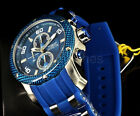 Invicta 48MM Pro Diver Scuba 1.0 Royal Blue Chronograph Dial SS/Poly Strap Watch