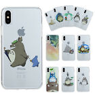 Lovely Cartoon Totoro TPU Soft/Hard Phone Case Covers For iPhone X 5/6s/7/8 Plus