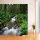 """Stream in Wood Nature Bathroom Fabric Shower Curtain With Hooks Waterproof 71"""""""