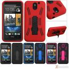 3-Layer Hybrid Symbiosis Stand Protective Case Cover For HTC 610(Desire 610)