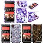 Glossy Print Finish TUFF 3-Layer Protective Case Cover For HTC Desire 626S/626