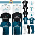 Kids Short Long Sleeve Shirt Football RONALDO Home Away Goalkeeper Boy Kit+Socks