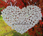 Внешний вид - Personalised Heart Shaped wedding guestbook hanging heart guest book alternative