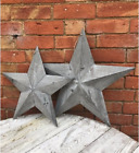 Grey Washed Rustic Shabby Chic Wooden Amish Barn Lucky Star Large Medium Small