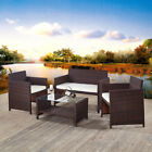 Garden Furniture Rattan 2 Or 3 Chairs And Table Set Patio Conservatory Outdoor