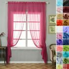 Sheer Organza 52 x 108-Inch Window Drapes Curtain 2 Panels Home Party Wedding