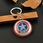 Retro Anime Figure The Avengers Marvel Character Keychain Keyring Car Keyfob