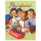 Coca-Cola Play Refreshed Girls Baseball Players Wall Decal Coke $12.99  on eBay