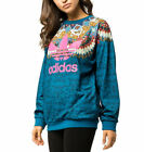 adidas Originals FARM Borbomix Loose Fit Pockets Sweatshirt Floral Butterfly Top